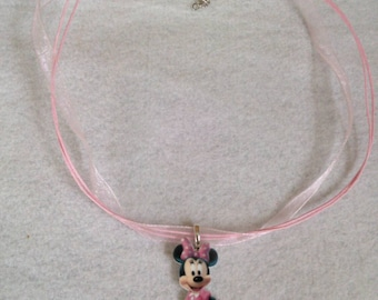 Minnie Mouse Necklace. Waterproof