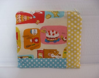 Spring Zip Pouch made with Kawaii Japanese Import Fabric