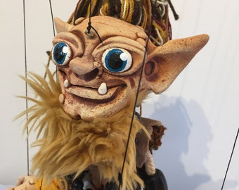 "Smeagol Gollum House Elf ""The Hobbit"" OOAK marionette puppet"