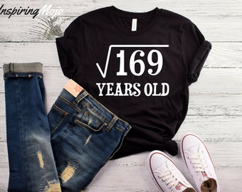 Square Root Of 169 Years Old T-Shirt, Funny 13 Year Old Shirt, 13th Birthday Shirt, 13th Bday Shirt, Born In 2005 Shirt, Thirteenth Shirt