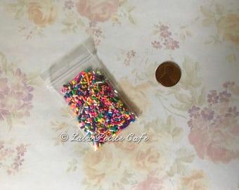 Fake sprinkles ; faux jimmies ; deco sprinkles