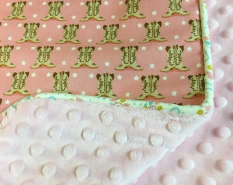 Cowgirl Boots Baby Blanket