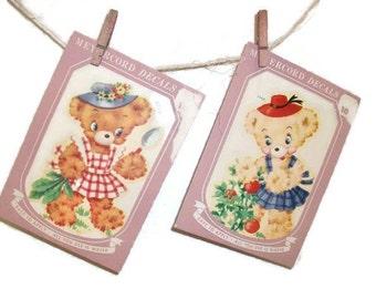 Vintage Package Meyercord Bear Decals | Waterslide Nursery Decals