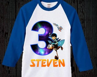 Miles from Tomorrowland Birthday Shirt - Blue Raglan Option