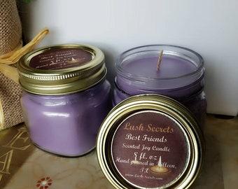 Best Friends Joy Candle, Soy Candles,  Purple Candle, Best Friends