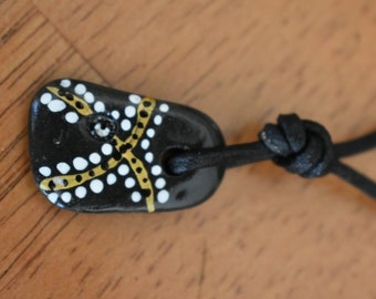 Maine Beach Stone Necklace