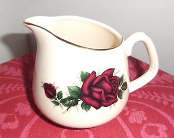 Vintage Red Rose Jug