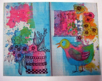 Fabric Sketchbook Page 4