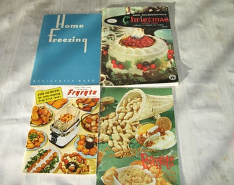 1940's and 1950's cooking pamphlets.