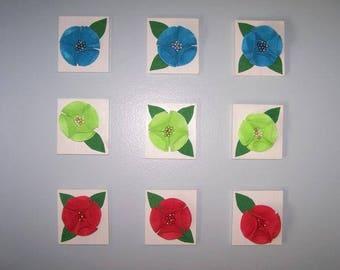 3D Flower Wall Plaque