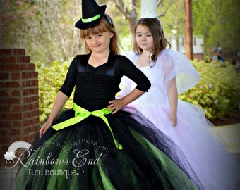 Elphaba Inspired Tutu Dress - Wicked Tutu Dress - girls size 2t - 8