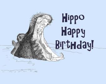 Hippo Happy Birthday