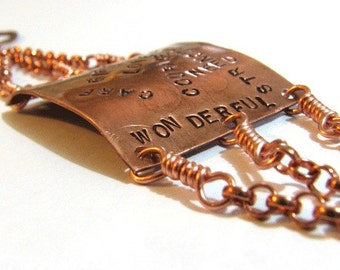 Positive copper bracelet - Affirmation