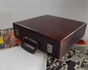 vintage record case , vinyl record case, 12 inch records case, 1960s