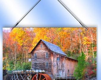 Rustic Waterwheel Decorative Window Sun Catcher from Redeye Laserworks