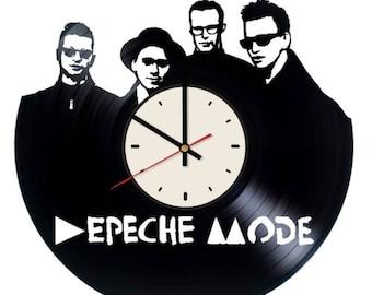 Depeche Mode electronic band vinyl clock handmade home bedroom living kids room nursery wall decor gifts idea for birthday men women