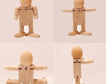 wood doll. wood toy. Kokeshi dolls.crart wood. basswood.pinewood