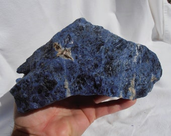 AAA Top Quality Blue Sodalite Rough 4.15 LBS From BRAZIL Trim Saw Slab Saw Cutting Rough #317