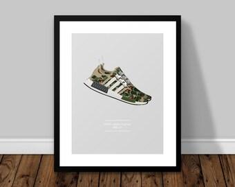 BAPE adidas Originals NMD_ R1 Illustrated Poster Print | A6 A5 A4 A3