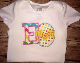 Girls Easter Egg Shirt, Custom Easter Egg Shirt,  Customized Egg Shirt, Easter Egg Shirt with Name, Custom Easter Shirt, Easter Egg Top