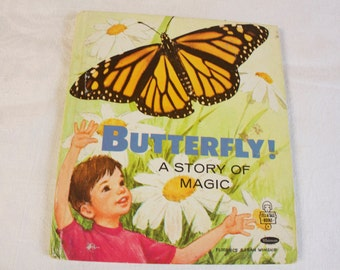 Vintage 1960 Butterfly! A story of magic Whitman Tell-A-Tale Book