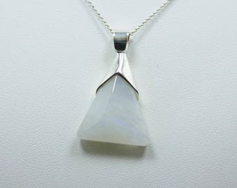 Natural Moonstone Sterling Silver 925 Pendant