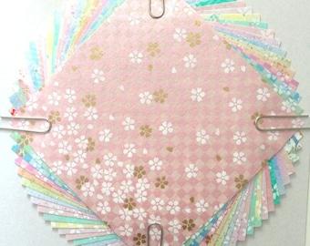Japanese WASHI paper Origami YUZEN Chiyogami, 20 sheets, 10x10cm (Y025)