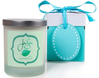 Lavender Orange Natural Soy Candle - Handmade with Essential Oils, eco friendly, small 8 oz (227 grams)