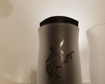 Set of 2 White Remy Martin Glasses, Glass. Bar, Man Cave