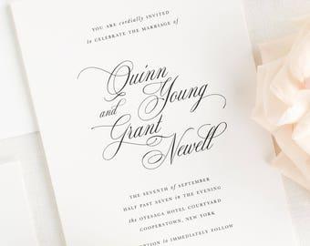 Quinn Wedding Invitation - Deposit