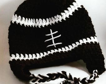 Baby Football hat with ear flaps