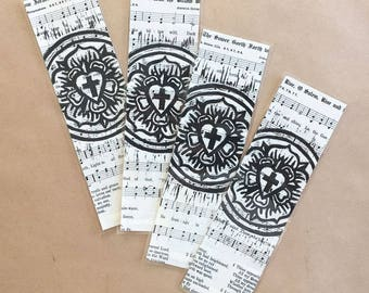 Luther Rose|Lutheran bookmark|Reformation|Hymnal|vintage|Luther's Rose|laminated|Confirmation|pastor|Bible|Martin Luther|Luther Seal