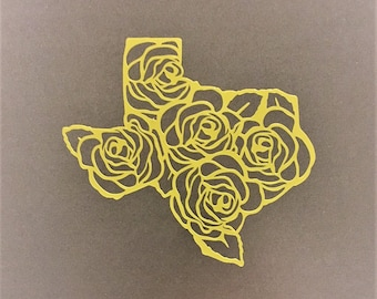 The Yellow Rose of Texas Vinyl Decal