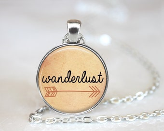 Wanderlust Necklace, Wanderlust Jewelry, Boho Jewelry, Boho Necklace