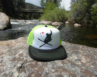 Ski Love- Kids Trucker Hat. Inspired by youth and Designed in Colorado!