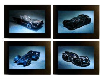 """Batmobiles Framed Photos Toy Car Photographs 4x6"""" Batman"""