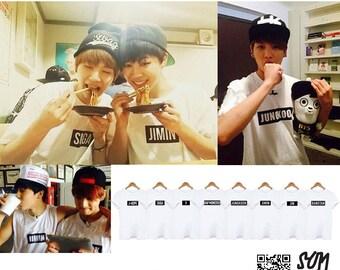 BTS Bangtan Boys Name Tag Tshirt