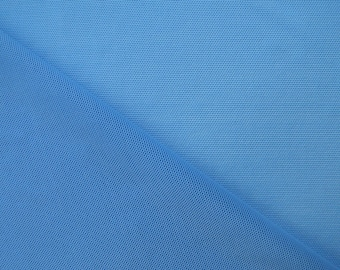 "Power Mesh Fabric in Sky Blue By The 1/2 Yard, 64"" Wide"