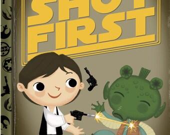 Han Shot First 5x7 POSTCARD