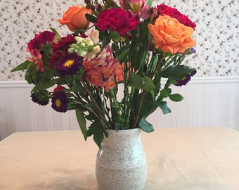 Wheel Thrown Composite Vase, Wheel Thrown Flower Vase, Utensil Holder, Multifuncional Vase