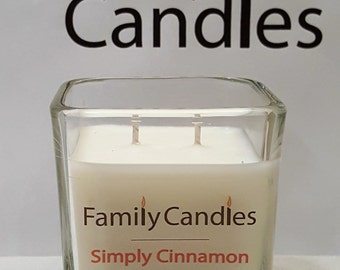 Family Candles - Simply Cinnamon 7.5 oz Double Wicked Soy Candle
