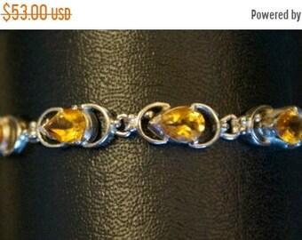 ON SALE Splendid Yellow Topaz Silver Bracelet