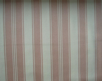 """Fabric, Tanya Whelan, Cotton Sateen, 55"""" Wide - Home Decor - French Stripe - Pink - Sewing, Quilting, Crafts"""