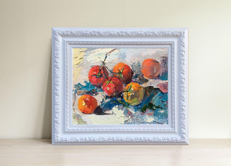 Tomate-Kunst-Stillleben mit Gemüse Tomate Wand Kunst Küche