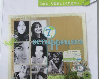 "Book ""Scrapeuses 7"" - Karine workshops - created Passions - Challenges - 50 projects"