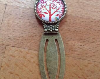 Antique brass tree & bird bookmark