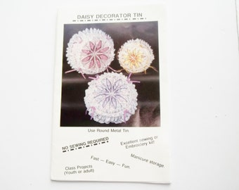 Vintage Daisy Decorator Tin Pattern    No Sew Pattern  Gift for Mom