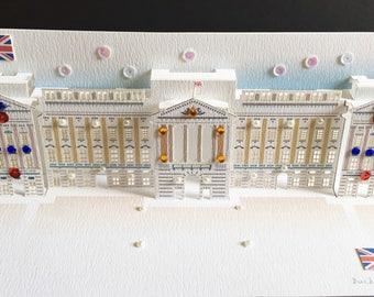 Happy Birthday/Buckingham Palace/Royal Wedding/Royal Engagement/Fathers Day/Mothers Day/For Him For Her/Celebration /3D Pop Up Card