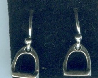 Sterling Silver Stirrup Earrings - Horses Ponies Riding Equestrian