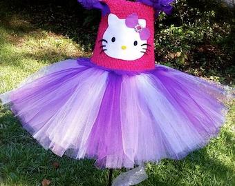 Hello Kitty Tutu dress, hello kitty birthday tutu, hello kitty party, cake smash tutu, hello kitty dress, hello kitty tutu, first birthday